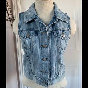 Levi's Jean semi cropped vest